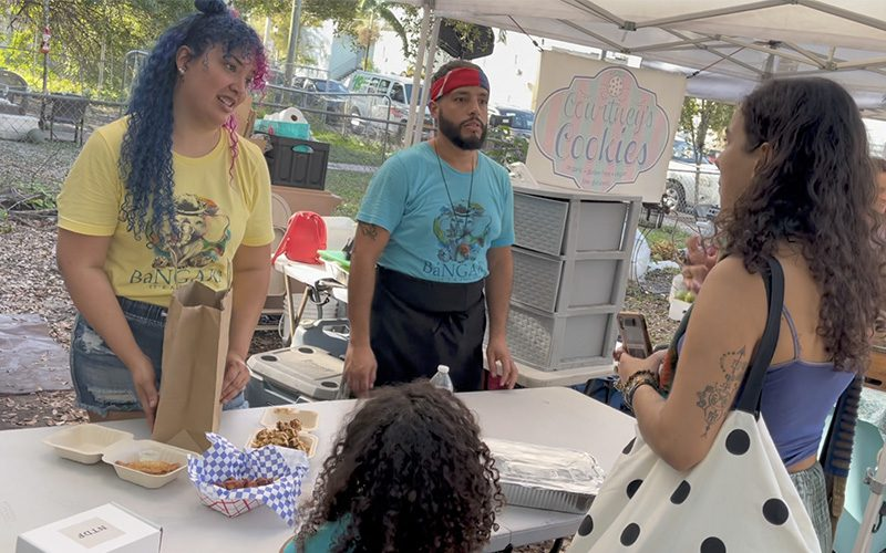 Bangara Vegan at the Coconut Grove Farmer's Market