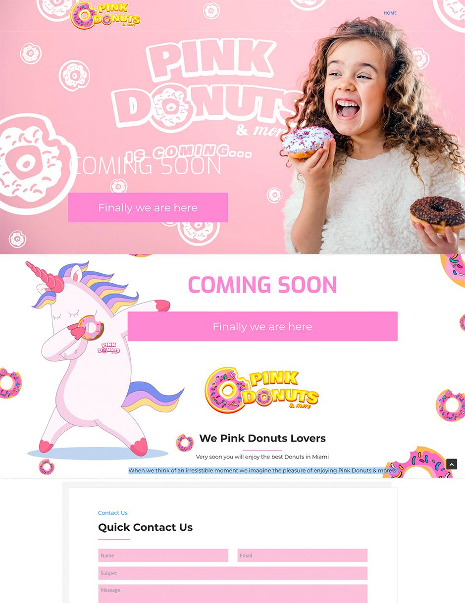 Pink Donuts and More